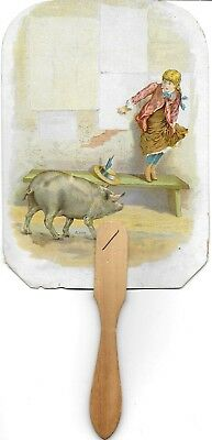 Advertising Fan for Phineas Jones & Co Carriage & Bicycle Wheels 1890s Newark NJ