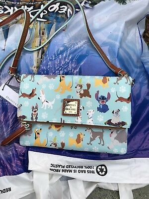 Disney Dogs Dooney & Bourke Foldover Zip Crossbody Handbag. SOLD OUT!!