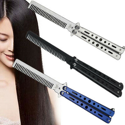 Stainless Steel Practice Balisong Butterfly Comb Trainer Training Tool 1 x