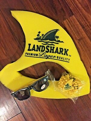 Landshark Lager Foam Hat + Sunglasses + Beads perfect Parrot Head Concert Items