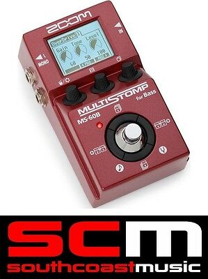 AUS ZOOM DEALER NEW MS60B MULTISTOMP Bass Effects Guitar FX Pedal with WARRANTY