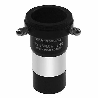 """Astromania 1.25"""" 2X Barlow Lens MultiCoated Metal with M42x0.75 Thread Camera"""