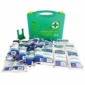 HSE Compliant Premium 50 Person Easy Access First Aid Kit Inc Wall Bracket CE