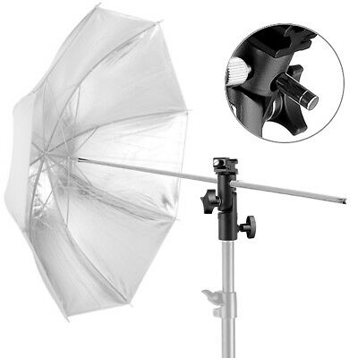 New Flash Light Hot Shoe Umbrella Holder Swivel Bracket Mount Light Stand Type E