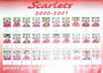 Llanelli Scarlets 2000-1 Official Rugby Team Poster