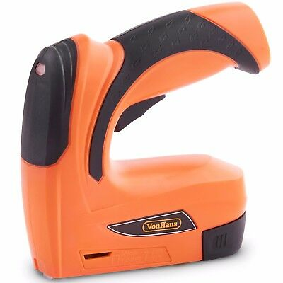 VonHaus 3.6V Cordless Electric Staple Gun / Tacker & Nailer 2-in-1