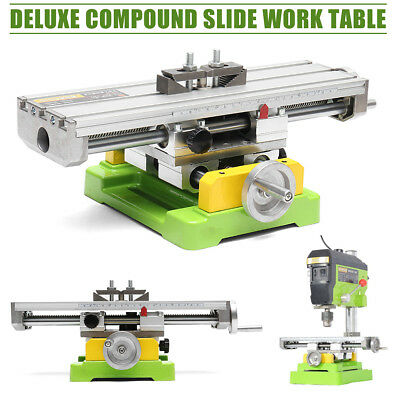 Compound Cross Slide Drill Milling Machine Vise Working Table Worktable Bench
