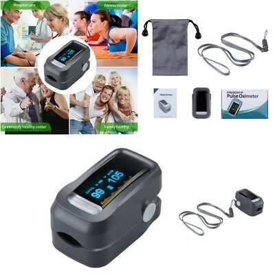 Fingertip Pulse Oximeter Sp02 OLED Blood Oxygen Saturation Heart Rate Monitor