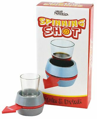 Spinner Drinking Game Fun Party Spin The Shot Glass Gray Gift Game Ur Turn