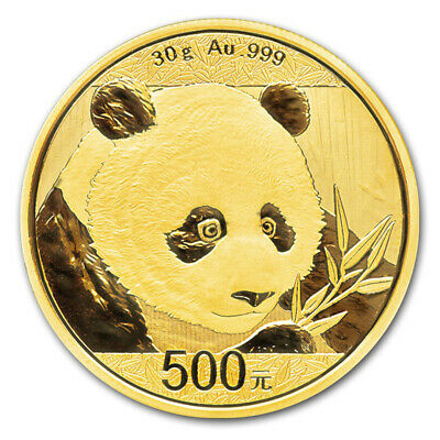 2018 China Gold Panda 30 g 500 Yuan - BU - Mint Sealed