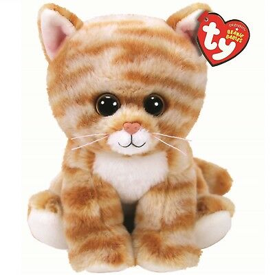 Ty Beanie Babies 42305 Cleo the Gold Tabby Cat