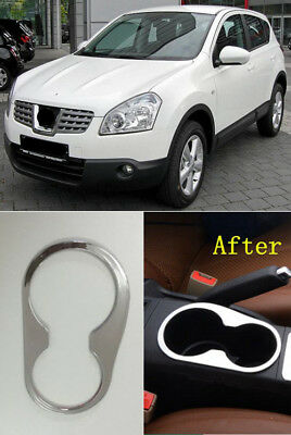 For Nissan Qashqai J10 2007-2013 Cup Holder Chrome Trim Surrender Console Trim