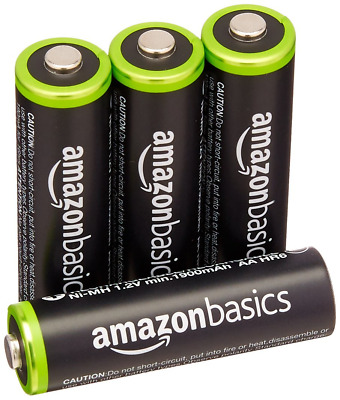 ABasics Lot de 4 Piles Rechargeables Ni-MH Type AA 1000 Cycles 2000 mAh/min NEUF