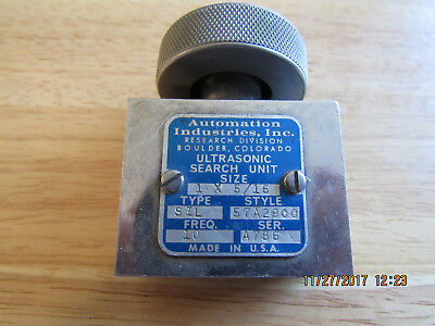Used Automation Industries Ultrasonic Transducer, FREE US Shipping