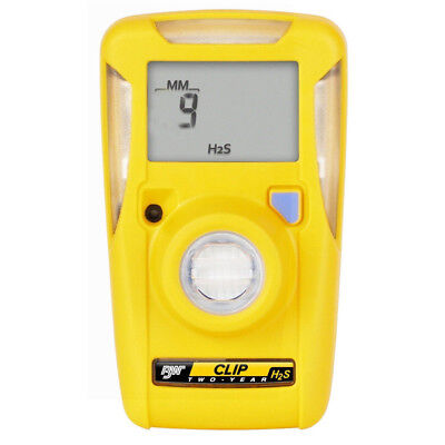 New BW Technologies BWC2-H GasAlertClip Gas Monitor Extreme Hydrogen Sulfide H2S