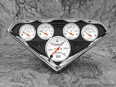 55 56 57 58 59 Chevy Truck Anodized Black Gauge Panel Dash Insert Instrument