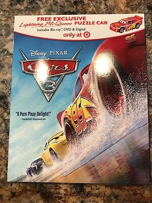 Cars 3 Blu-ray+DVD+Digital  with Slip Cover (2017) BRAND NEW