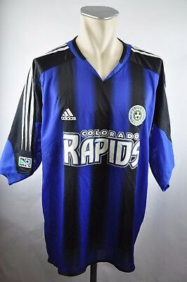 Colorado Rapids Trikot 2005-2006 Home Gr. 2XL Adidas MLS Jersey blau USA Soccer
