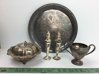 Vintage Silverplate-Mixed Lot-Perfect Past Table Decor