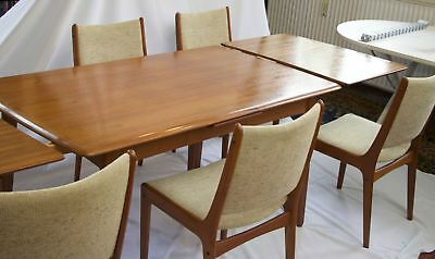 teak esstisch danish modern design teakholz d nemark dining table mid century eur 199 90. Black Bedroom Furniture Sets. Home Design Ideas