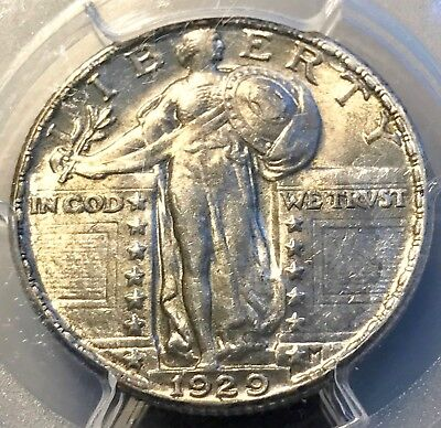 1929 Standing Liberty Quarter PCGS AU58FH CAC White Beauty New Purchase CHN