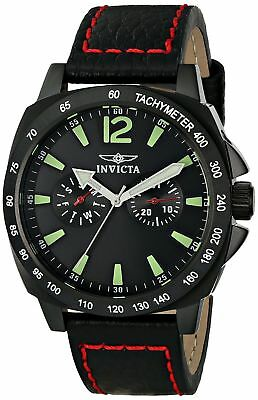 Invicta  Specialty Black Dial Black Ion-plated Stainless Steel Men's Watch 0857
