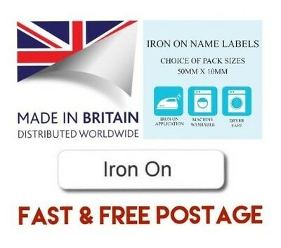 Printed iron-on School Uniform Nursery Tapes Name Tags Labels - Quality Labels