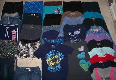 GIRLS Size 7/8 CLOTHING LOT (40pc) JUSTICE/OLD NAVY/PLACE/MUDD/SO & MORE!