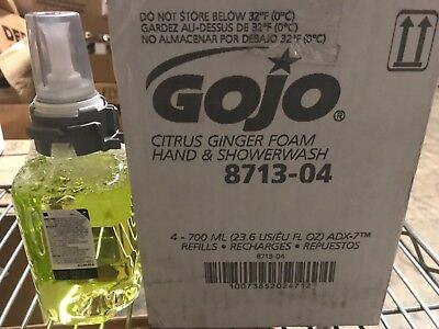 (Case of 4) Gojo 700mL Citrus Ginger Foam Hand & Showerwash 8713 EXP 8/2020