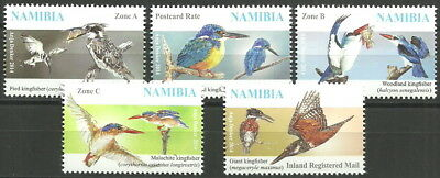 Namibia - Kingfishers Set mint 2014 Mi. 1496-1500
