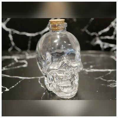 Mini Glass Skull Decanter Bottle