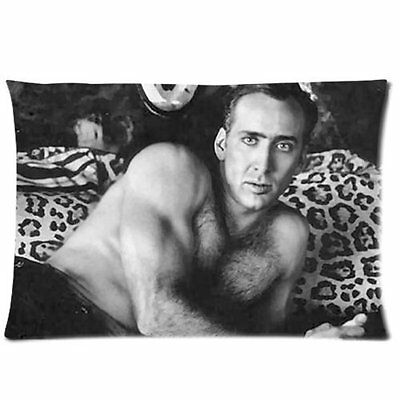Nicolas Cage Throw Pillow Case Cover 30 x 20 inch Cushion Pillowcases New