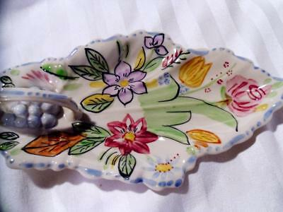 BLUE RIDGE SOUTHERN POTTERY Vintage RELISH TRAY Beautiful SUMMERTIME Excellent!