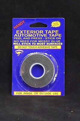 Self Adhesive Exterior Automotive Double Sided Foam Strip Roll Tape 12mm x 2M