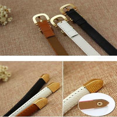 Ladies Slim Fashion Waist Belt Dress Access Thin Skinny Leather Belt Women LG