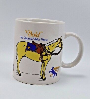 "1997 Breyer Fest Festival Coffee Cup Mug Rare "" Bold "" The Palomino Police Horse"