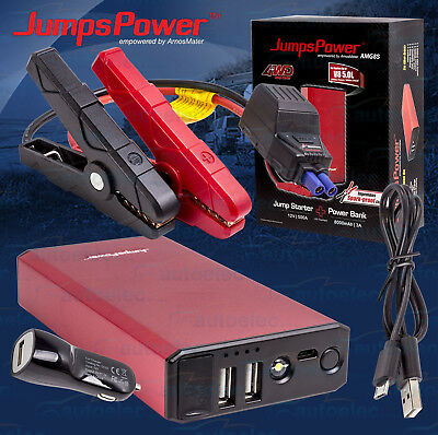 Jumpspower 12V Volt Mini Battery Jump Starter Usb Power Pack Supply Booster New