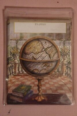 23 Gummed Antioch Bookplate Company globe Ex Libris Book Plates made in USA