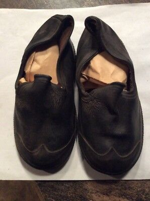 Pair Of Antique Childs Shoes -  Rubber Soles -