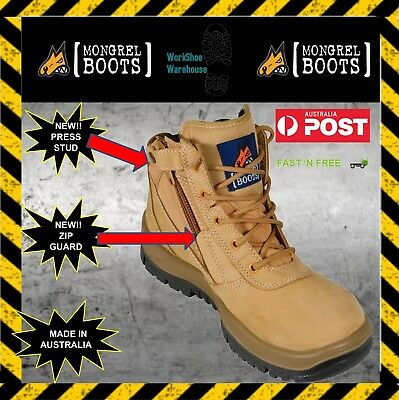 NEW STOCK!!! Mongrel '261050' Wheat Zip Side Steel Toe Cap Safety Boot