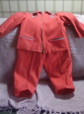 Unusual and rare True Vintage 1940s childs Outfit fit approx 5 or 6 years old