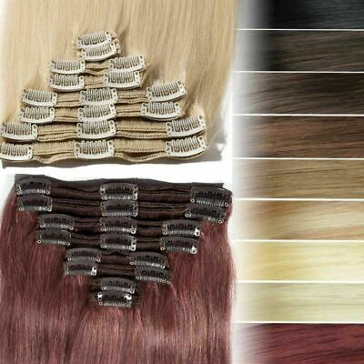 """Extra Thick Real Human Hair Extensions CLEARANCE Clip In Remy Double Weft 10-22"""""""