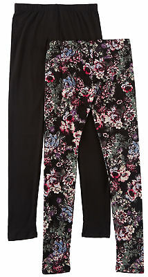 LuLu Luv Big Girls 2-pk. Solid Flower Leggings Set