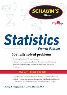 Schaums Outline of Statistics, Fourth Edition (Sch