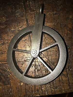 INDUSTRIAL CAST IRON Pulley Wheel and Copper Bowl water feature ...