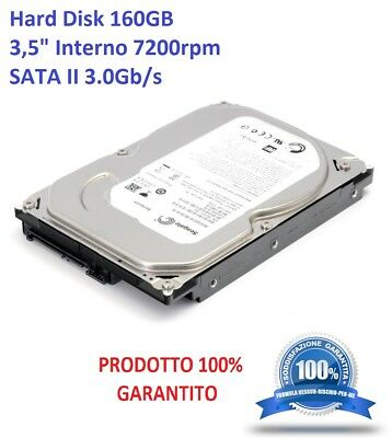 "Hard Disk HD HDD 160GB SATA II 3.0Gb/s 3,5"" Interno PC Desktop 7200 RPM"