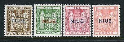 NIUE-1944-54 Postal Fiscal.  A lightly mounted mint set to £1 Sg 83-86