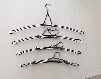 4 Antique Expandable Travel Hangers