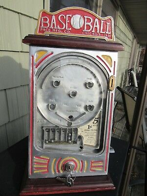 ORIGINAL c1931  PACE MFG. CO. CHICAGO 1cent TRADE STIMULATOR WORKS GREAT