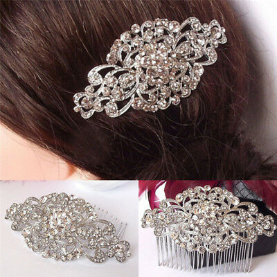 Vintage Wedding Crystal Hair Comb Bridal Tiara Bride Hair Piece Accessories pl